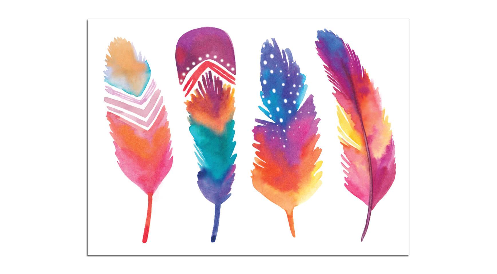 Mini plumes petits tattoos watercolor - Laver un oreiller en plume ...