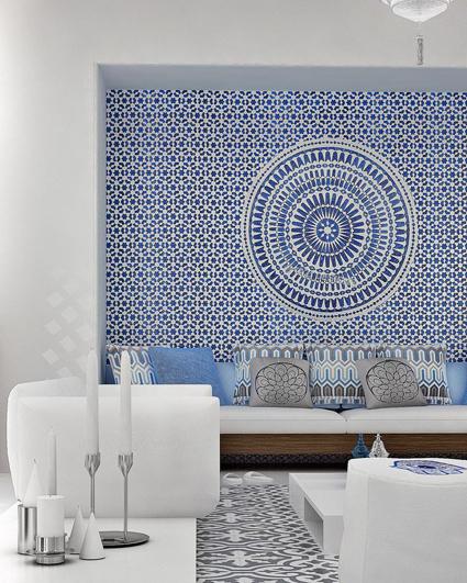 inspiration carrelage bleu et blanc