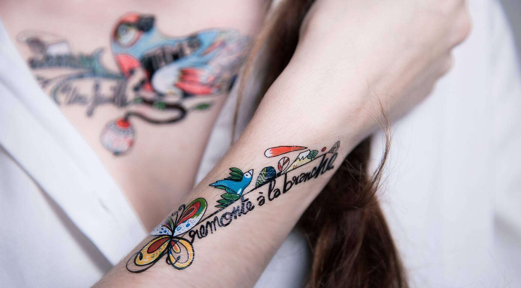 Faux tatouage par Sioou