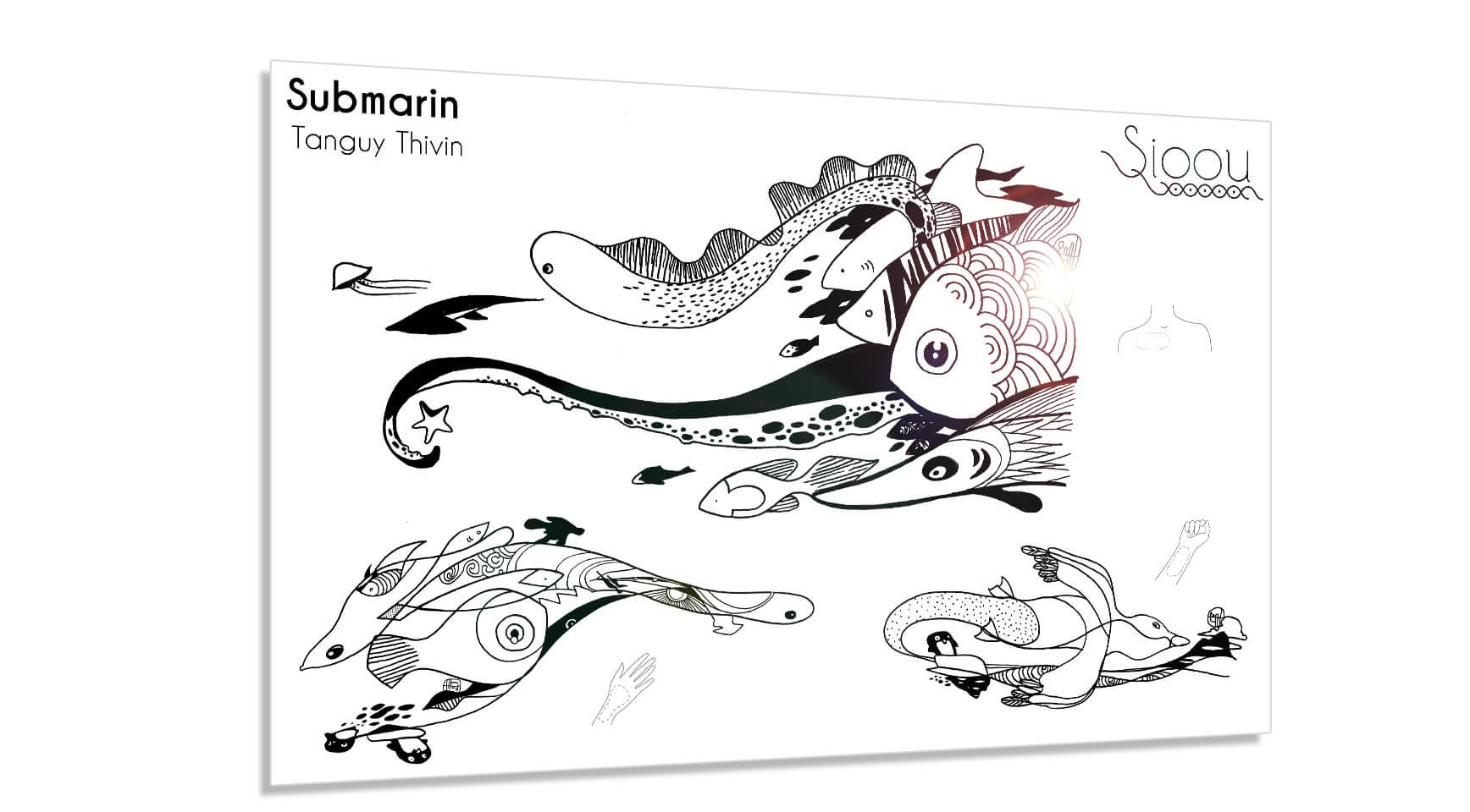Parure de tattoos Sioou Submarin dessinée par Tang