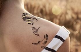 tatouage doré