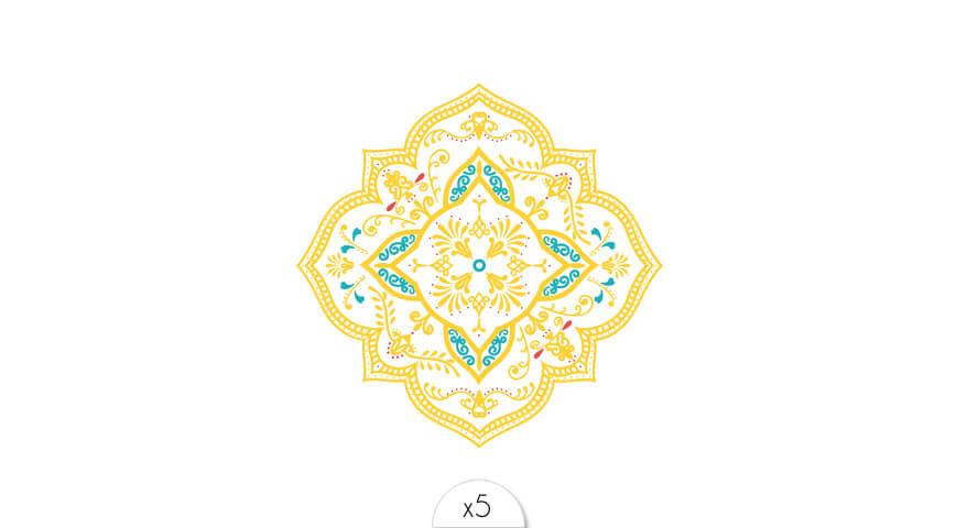 Mandala Azulejos x5