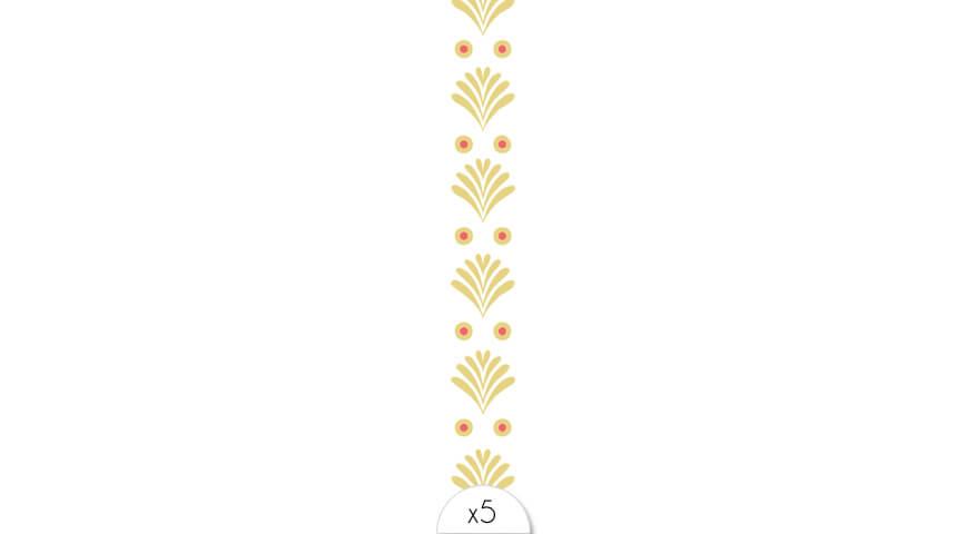 Palm leafs bracelet x5