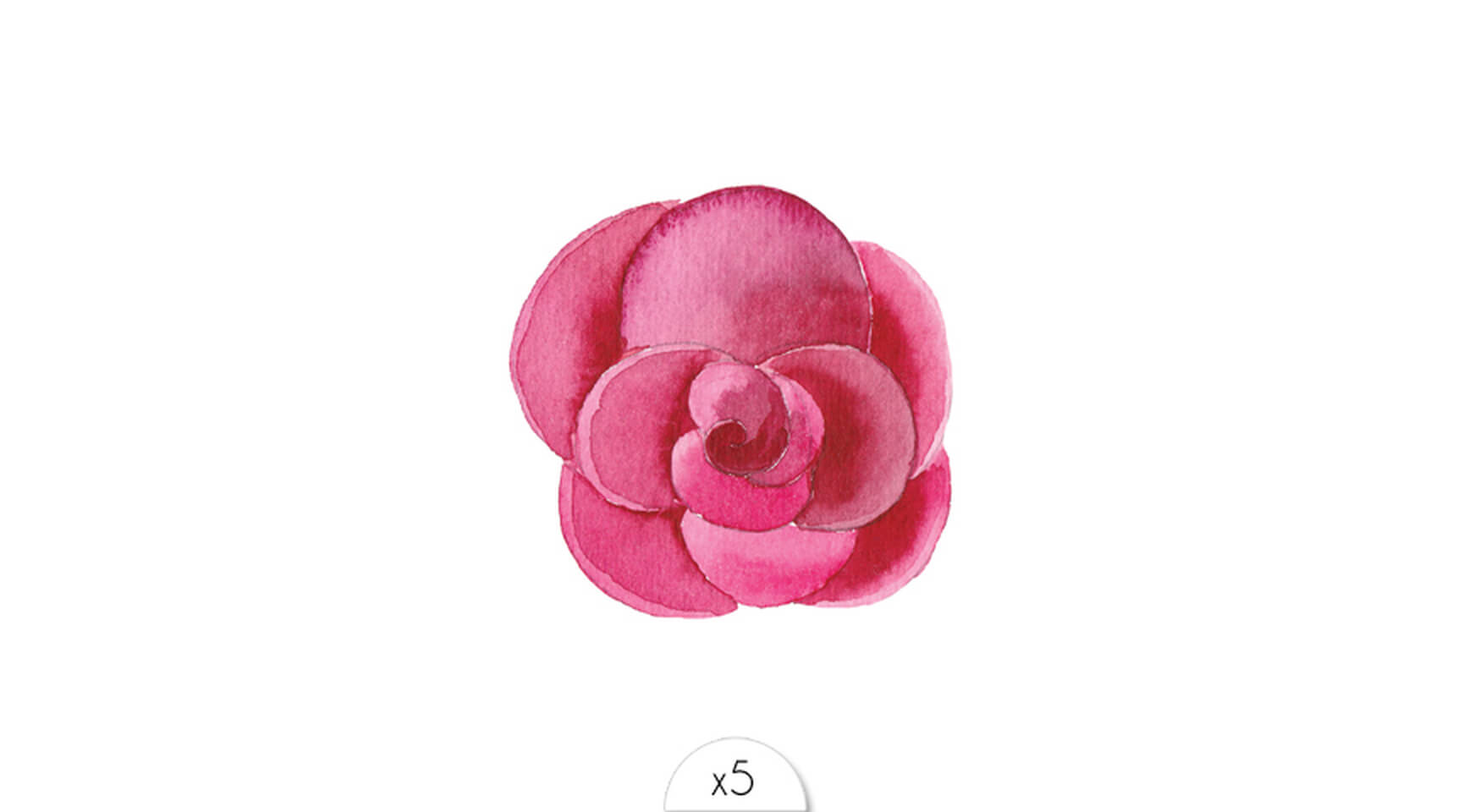 036148809423 Tattoo fleur aquarelle fuchsia Sioou