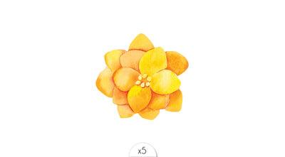 Fleur jaune x5