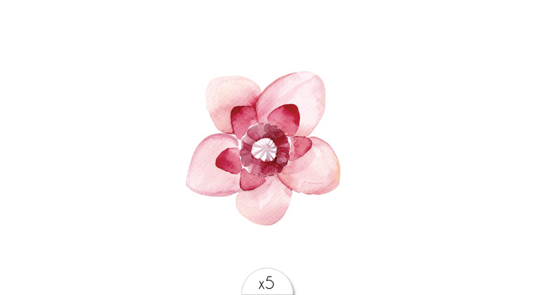 5eedbfb4301f Fleur rose pâle et fuchsia x5 ...
