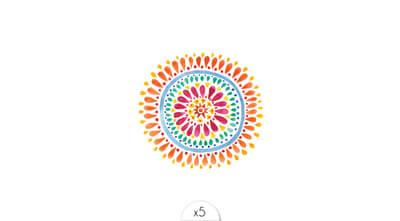 Colorfoul mandala x5
