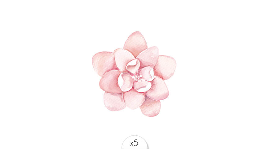Sioou Light Pink Flower Tattoo