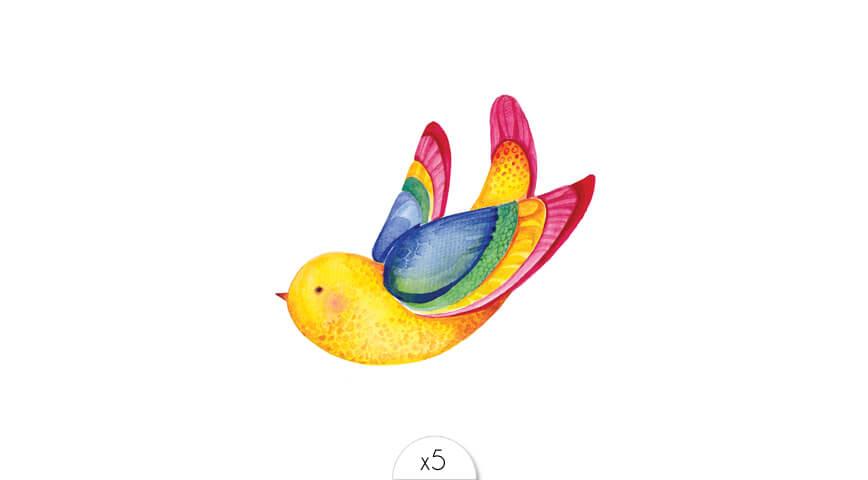Oiseau bleu x5