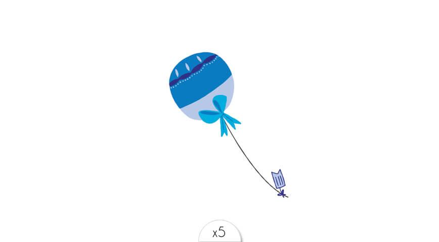 Ballon bleu x5