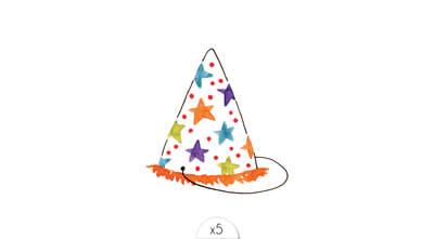 Chapeau de fête x5
