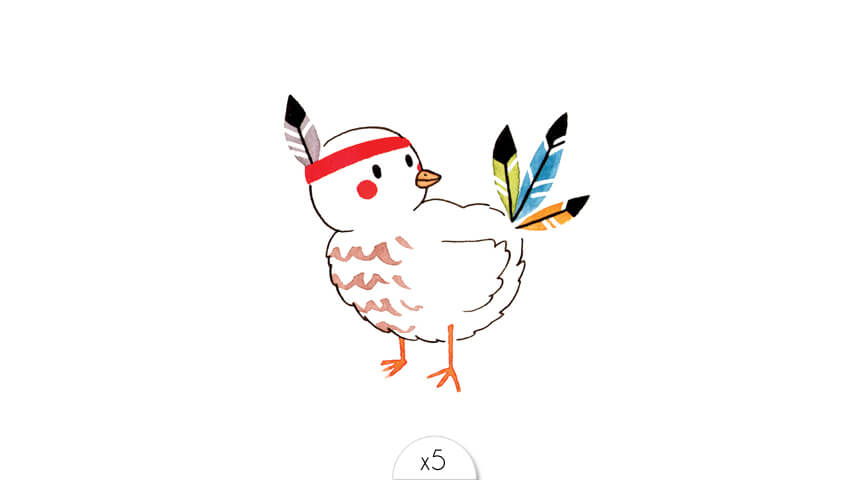 Oiseau indien x5