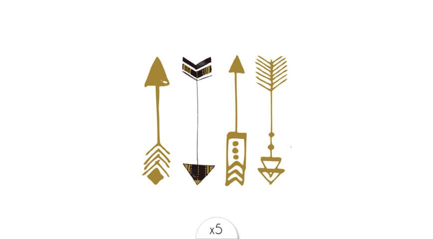 Flèches dorées