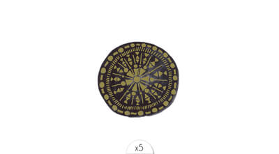 Golden and black locket x5