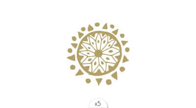 Golden mandala x5