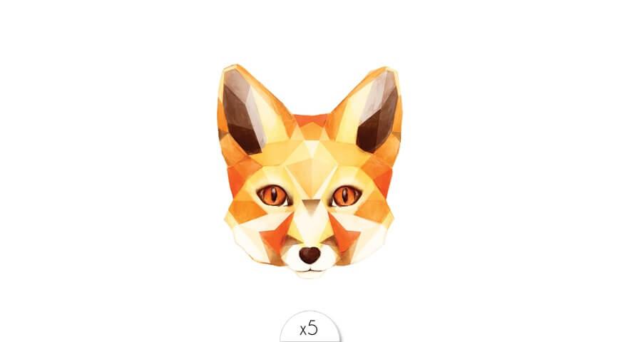 Tête de renard x5