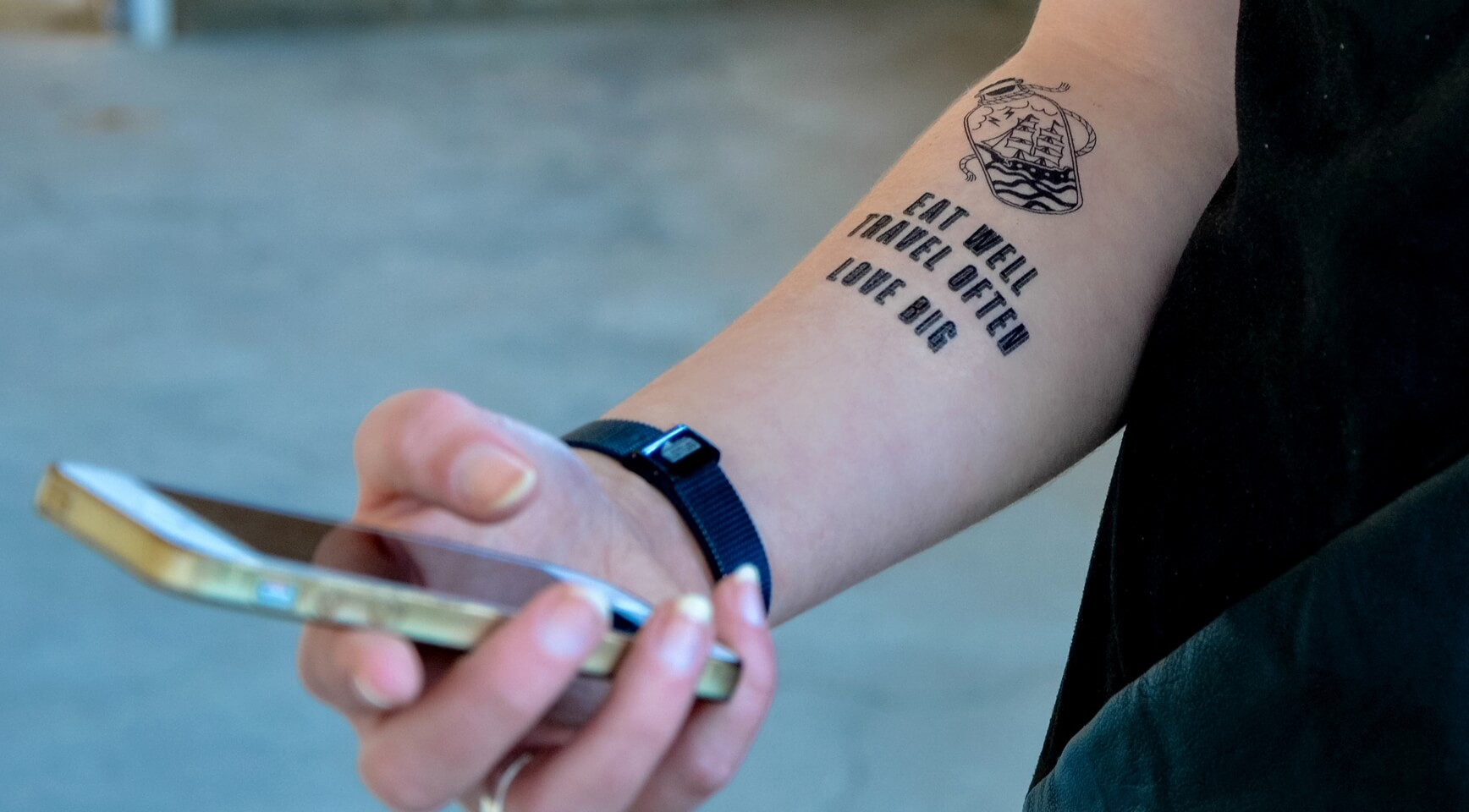 Black Temporary Tattoo By Sioou Message In A Bottle