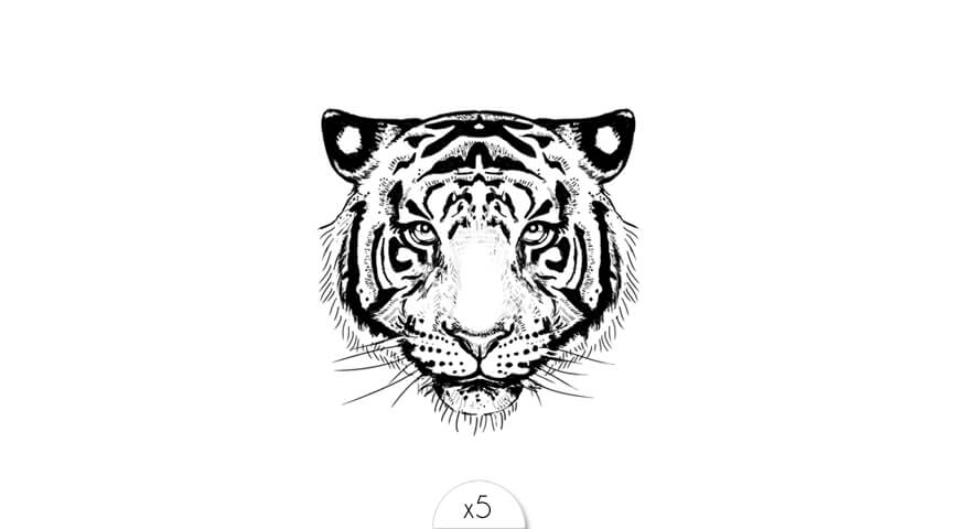 Tatouage Ephemere Tigre Sioou