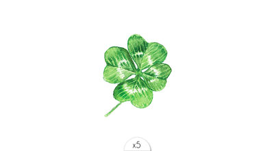 Four-leaf clover x5