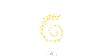 Starry spiral x5