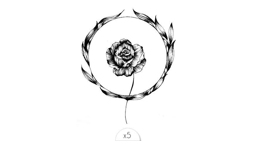 Fleur noire x5