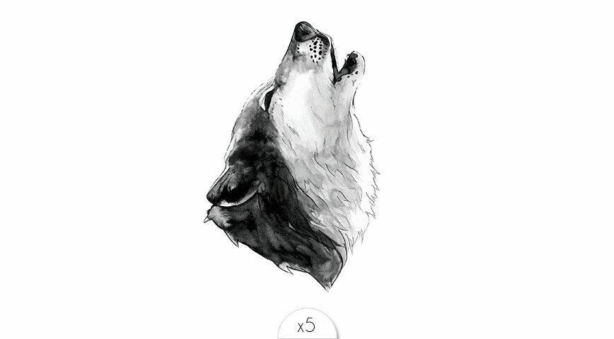 Loup hurlant x5
