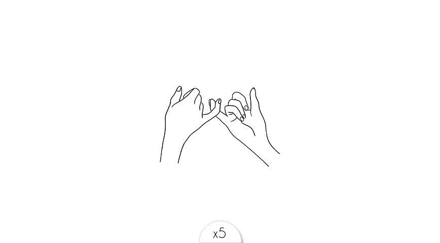 Interlaced hands x5