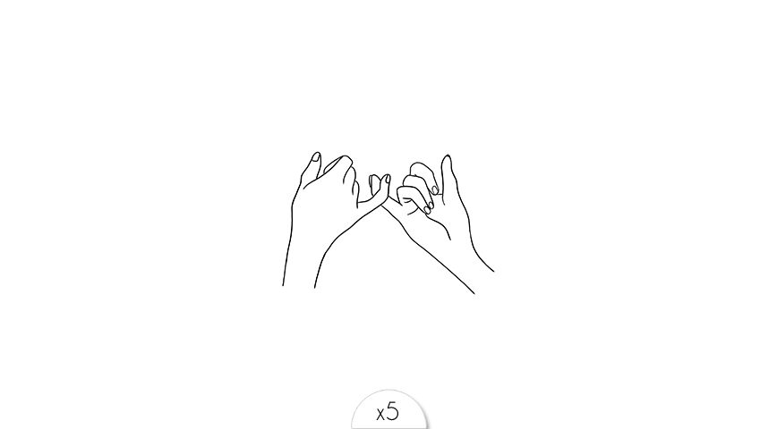 Mains entrelacées x5