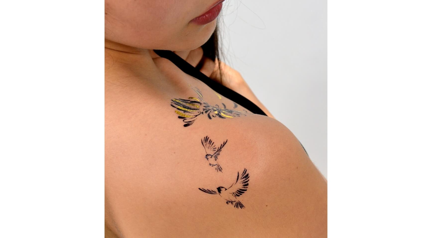 Mini Sparrow Petits Tatouages Oiseaux Et Plume