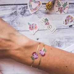 bracelet tattoo éphémère doré diamant
