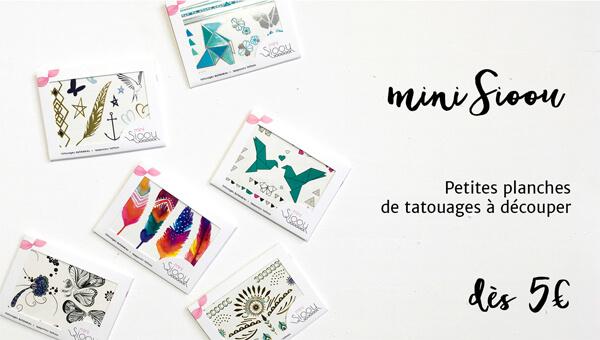 Mini Sioou : petites planches de tatouages à découper
