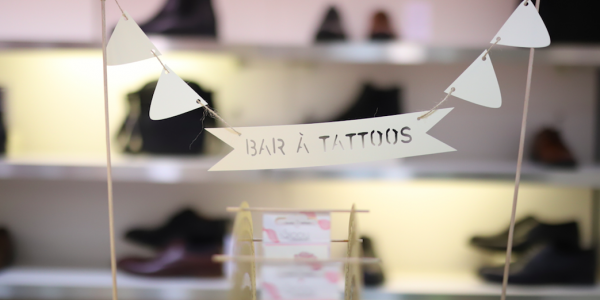 Le bar à tattoos Sioou à l'évenement André x JennaMzn